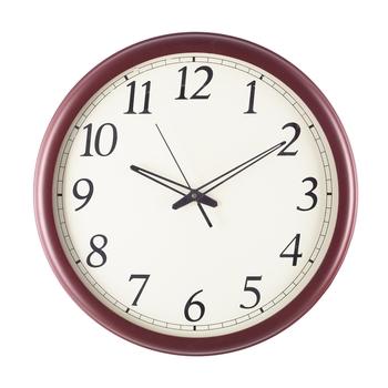 Premium Decorative Analog Brown Round Wooden Wall Clock