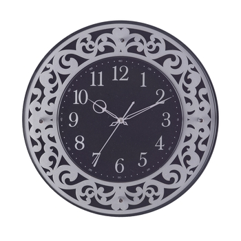 Premium Decorative Analog Black Round Wooden Wall Clock