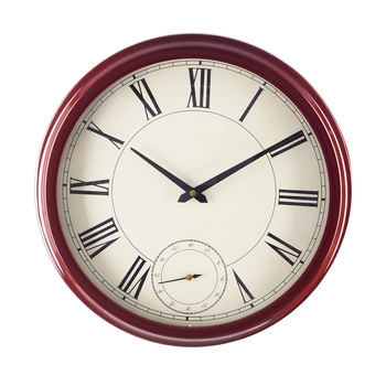 Premium Decorative Analog Brown Round Wooden Wall Clock