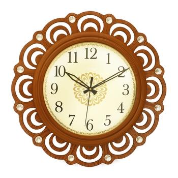 Brown Round Wooden Wall Clock