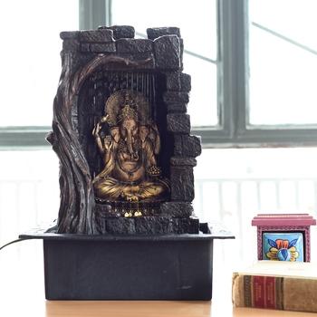 Textured Lord Ganesha Water Fountain