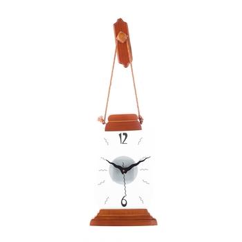 Premium Decorative Analog Brown Polygon Wooden Wall Clock