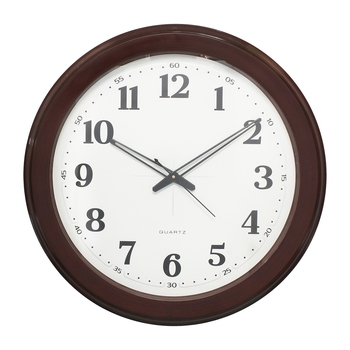 Brown Circular Dial Contemporary Analog Wall Clock (50Cm X 50Cm)