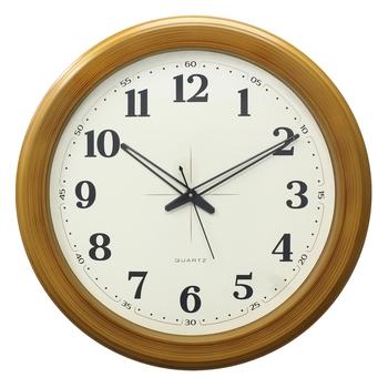 Yellow Circular Dial Contemporary Analog Wall Clock (50Cm X 50Cm)