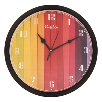 Designer Round Analog Black Wall Clock