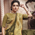Olive woven art silk saree with blouse