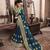 Cobalt blue woven art silk saree with blouse