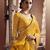 Mustard woven art silk saree with blouse