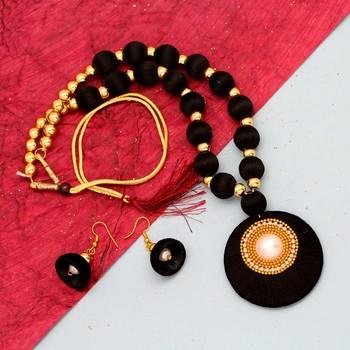 Black necklaces