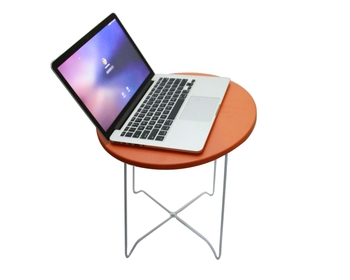 Multipurpose Utility Side Table (Color - Orange, Height - 45Cm, Easy to assemble)