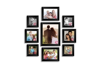 Memory Wall Collage Photo Frame Set of 9 individual photo frames
