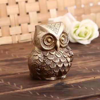 Brass Decorative Owl Showpiece