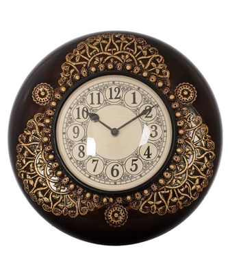 Embossed Vintage Wooden Handcrafted Wall Clock