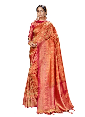 Grey brasso silk saree with blouse
