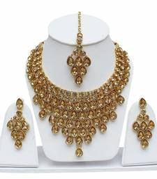 Gold crystal chokers