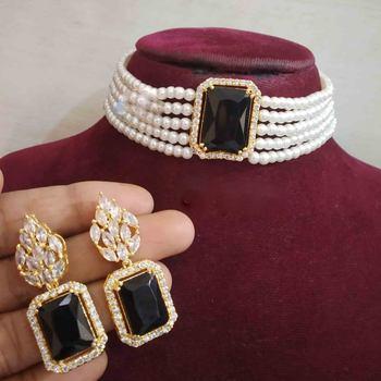 Black Cubic Zirconia Necklace Sets