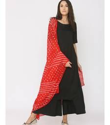 Red Bhandhej Dupatta