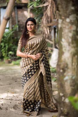 Multi Color Tassar silk weaving saree