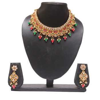 Multicolour copper necklace set