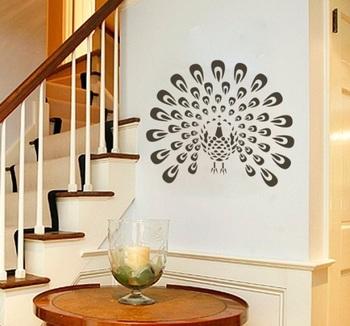 Modern Peacock wall design