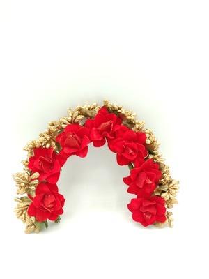 red rose gold flower veni