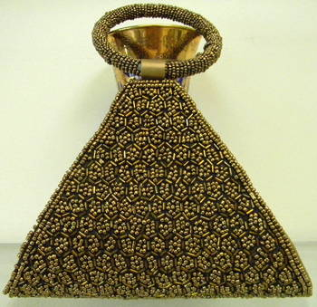 Golden Triangular Clutch