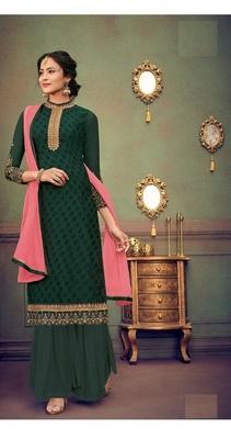 Green embroidered brasso salwar