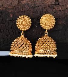 Gold Plated Designer Jhumkas