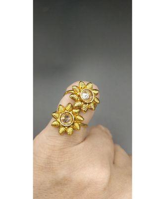 gold stone toe rings