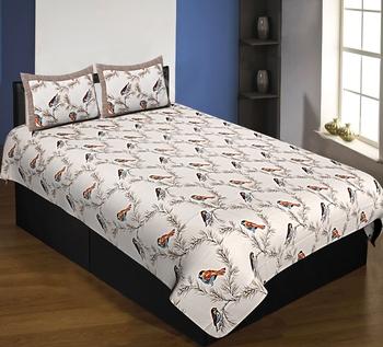 multicolor floral print cotton bed sheets