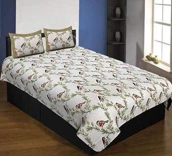 multicolor floral print cotton bed sheets