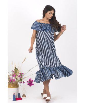 Blue Cotton McSunny Indigo Dress Dress