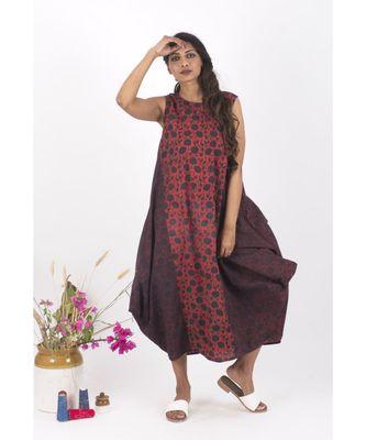 Red Cotton RedKarina Jhola Dress