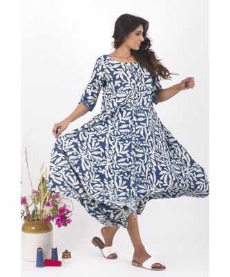 Blue Cotton RainyDay Indigo Dress