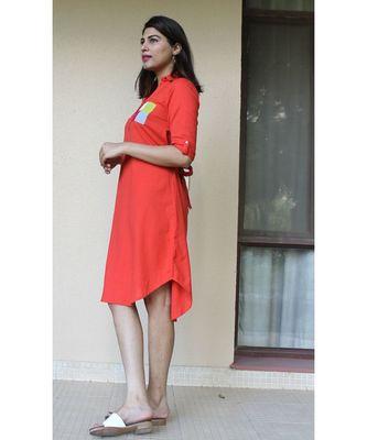 Red Cotton Sienna Dress