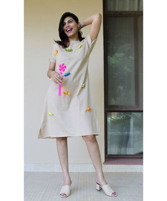 beige Cotton Harriet Candy dress