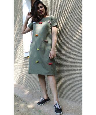green Cotton Meraki Candy dress