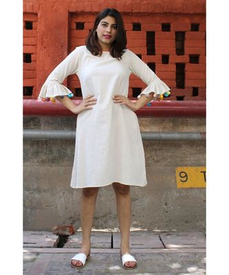 Off white Cotton Brinda Dress