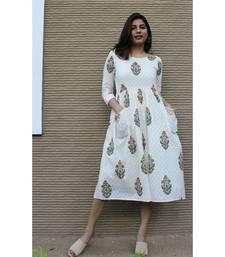 Off white Cotton Natalie Dress