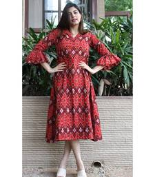 Red Cotton Julie Ikat dress