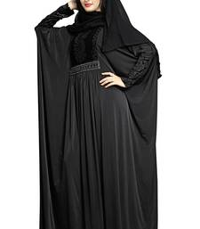 Justkartit Women's Dubai Style Velvet Stretchable Soft Material Outdoor Wear Abaya Burqa