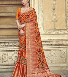 multicolor embroidered patola saree with blouse