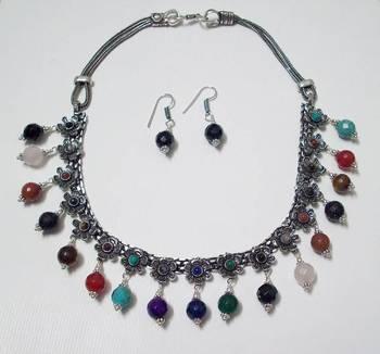 Multi-Colour Stone Necklace 004