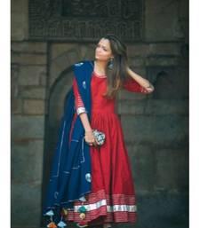 Red Anarkali Set with Gota work