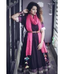 Black Anarkali set with gota work