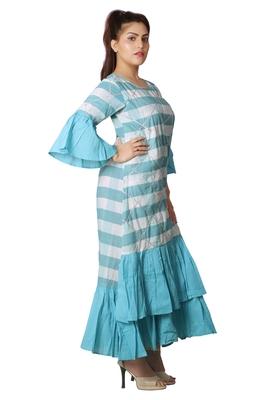 Blue Printed kurti For Women