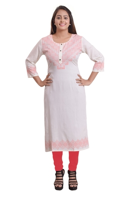 Pink Printed Kurti For Women