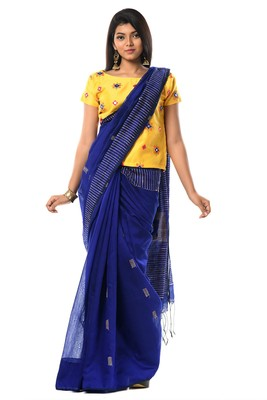 Blue ghicha cotton silk allure