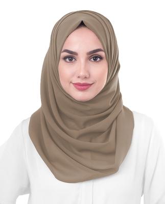 Justkartit Ivory Color Georgette Hijab Scarf Dupatta For Women