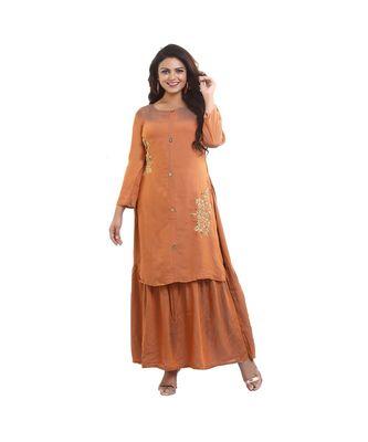 Designer kurta attached skirt For Women